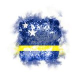 Square grunge flag of curacao Stock Photography