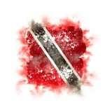 Square grunge flag of trinidad and tobago. 3D illustration Royalty Free Stock Image