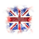 Square grunge flag of united kingdom. 3D illustration Stock Photo
