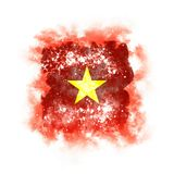 Square grunge flag of vietnam Stock Image