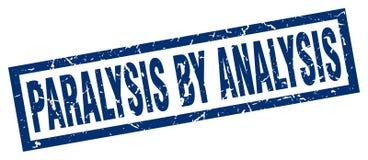 Square grunge paralysis by analysis stamp. Square grunge blue paralysis by analysis stamp stock illustration