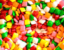 Square gum or candy background Royalty Free Stock Photo