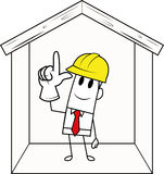 Square guy-construction safety Stock Image