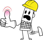 Square guy-occupational accident royalty free illustration