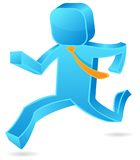 Square guy - Run Royalty Free Stock Image
