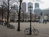 Square in The Hague, Netherlands. Royalty Free Stock Photography