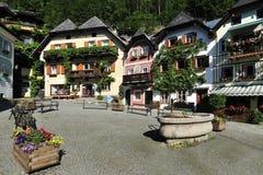 Square in Hallstatt. The romantic small square in Hallstatt - Austria Royalty Free Stock Photos