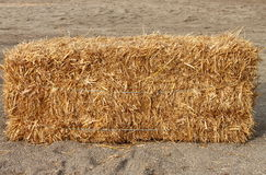 Square hay bale Stock Image