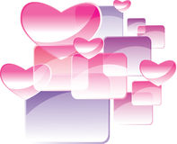 Square and heart abstract background Stock Image