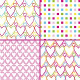 Square heart pattern Stock Photos