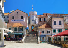 The square in Herceg Novi, Montenegro Royalty Free Stock Image