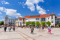 Square at the Heroes of Monte Cassino in Sopot Stock Images