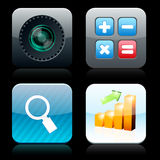 Square high-detailed app icons. Royalty Free Stock Photos