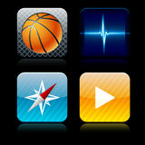 Square high-detailed app icons. Royalty Free Stock Photography