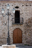Square of the historic village Agropoli city, Italy Stock Image