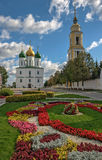 Square in historical part of the small russian town Royalty Free Stock Image