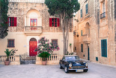 Square at historical town Mdina, Malta Stock Photos