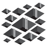 Square Hole with Ladder Royalty Free Stock Images