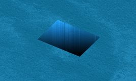 Square hole in the ocean stock illustration