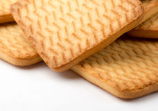 Square homemade cookies Royalty Free Stock Photography