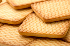 Square homemade cookies Royalty Free Stock Images