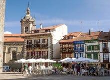 Square in Hondarrubia Stock Photo