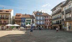 Square in Hondarrubia Stock Photos