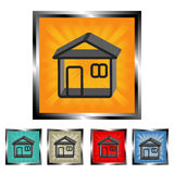 Square house  buttons Royalty Free Stock Photography