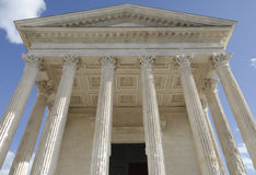 Square house in Nimes, France Stock Photos
