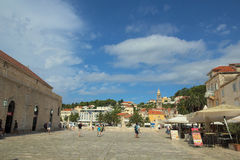 Square in Hvar Royalty Free Stock Photography