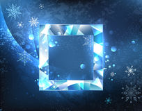 Square ice banner Stock Image