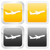 Square icon aeroplane Royalty Free Stock Photography