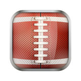 Square icon for american football app or games Stock Images