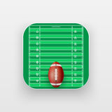 Square icon of American Football sport Stock Images