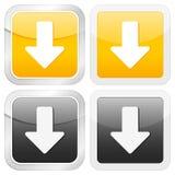 Square icon arrow down. Vector illustration Stock Photos