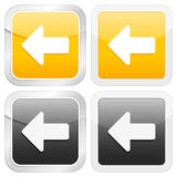 Square icon arrow left Stock Image