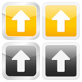 Square icon arrow up Stock Photography