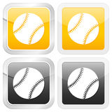 Square icon baseball Stock Photography