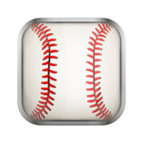 Square icon for baseball app or games Royalty Free Stock Images