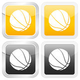 Square icon basketball Royalty Free Stock Image
