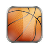 Square icon for basketball app or games Royalty Free Stock Photography
