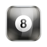 Square icon for billiard app or games Royalty Free Stock Images