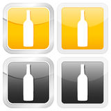 Square icon bottle Stock Images