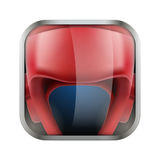 Square icon for boxing app or games Stock Image
