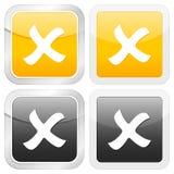 Square icon cancel Stock Image