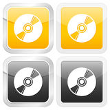 Square icon CD Royalty Free Stock Photo