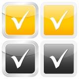 Square icon check symbol Stock Photos