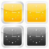 Square icon clock Royalty Free Stock Photos