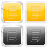 Square icon document Stock Photo
