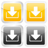 Square icon download Stock Images